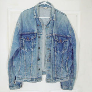 1980's Limited Edition Twice Faded Jean Jacket XL